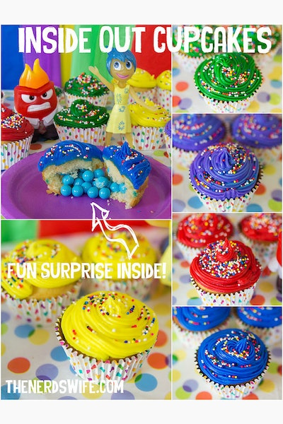 Disney Inside Out Cupcakes
