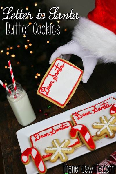 Letter to Santa Butter Cookies #HolidayButter