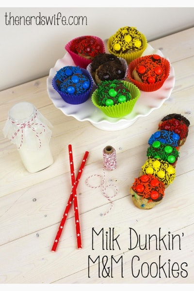 Milk Dunkin' M&M Cookies