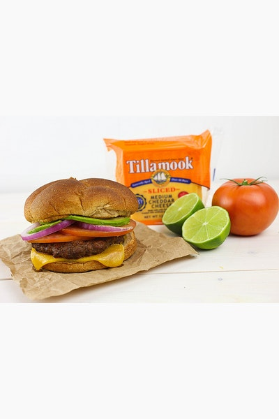 Southwestern Avocado Burger with Tillamook Cheese