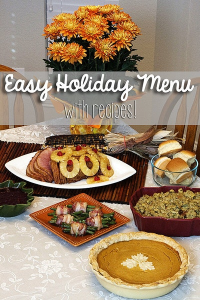 Thanksgiving Menu and Tips